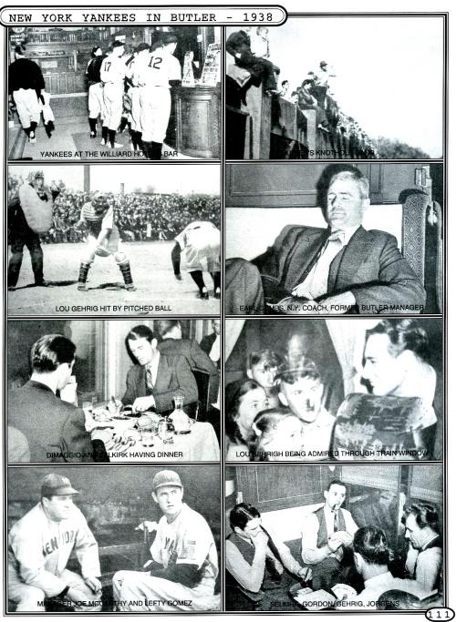 N.Y. YANKEES VISIT BUTLER YANKEES - 1938